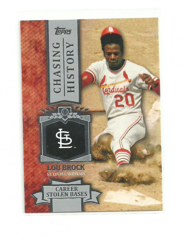 2013 Topps Chasing History #CH14 Lou Brock
