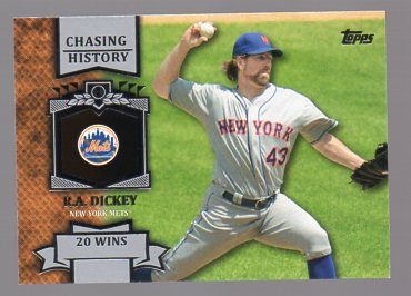 2013 Topps Chasing History #CH17 R.A. Dickey