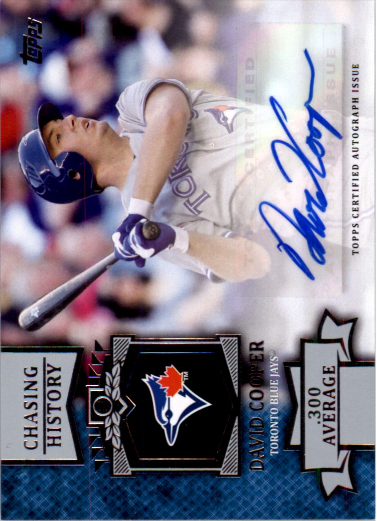 2013 Topps Chasing History Autographs #DC David Cooper S2