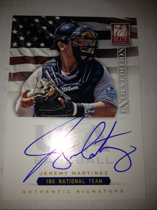 2012 Elite Extra Edition USA Baseball 18U Signatures #11 Jeremy Martinez