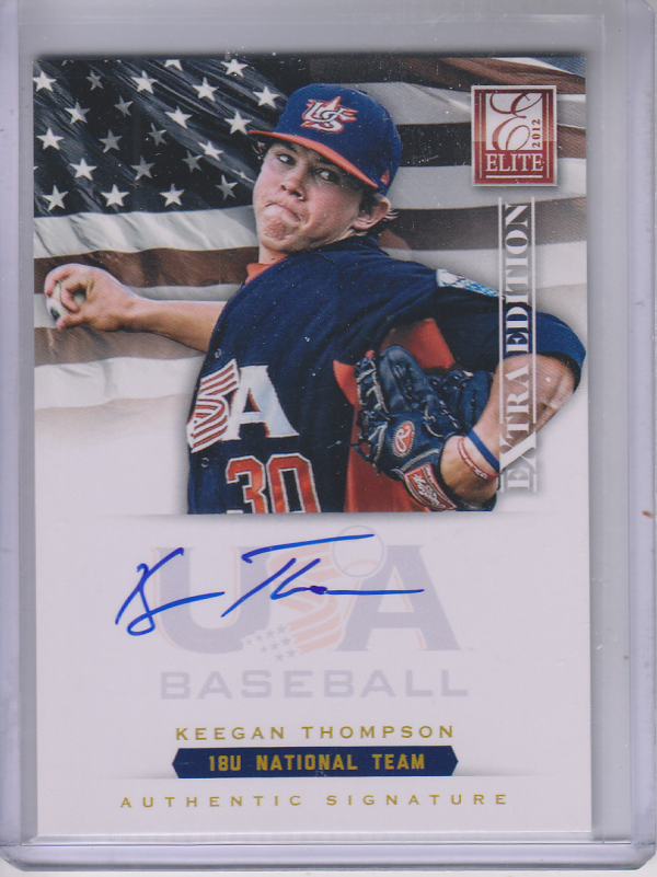 2012 Elite Extra Edition USA Baseball 18U Signatures #18 Keegan Thompson
