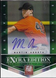 2012 Elite Extra Edition Signature Status Emerald #29 Martin Agosta
