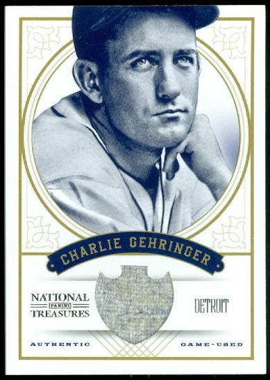 2012 Panini National Treasures #10 Charlie Gehringer/99