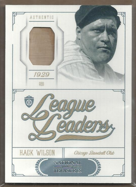 2012 Panini National Treasures League Leaders Materials #13 Hack Wilson/99