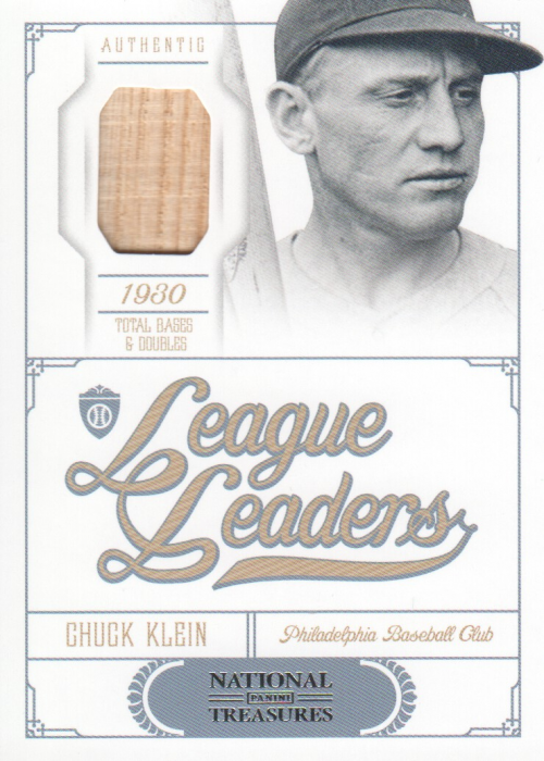 2012 Panini National Treasures League Leaders Materials #14 Chuck Klein/99