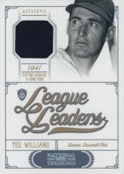 2012 Panini National Treasures League Leaders Materials #24 Ted Williams/99