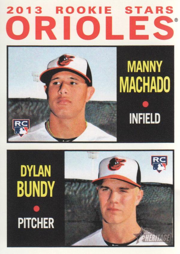 2013 Topps Heritage #201 Manny Machado RC/Dylan Bundy RC