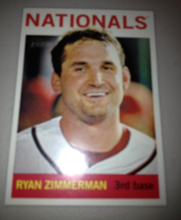 2013 Topps Heritage #432A Ryan Zimmerman SP