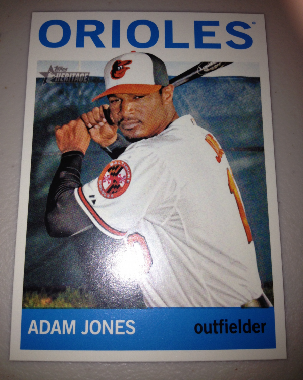 2013 Topps Heritage #433 Adam Jones SP