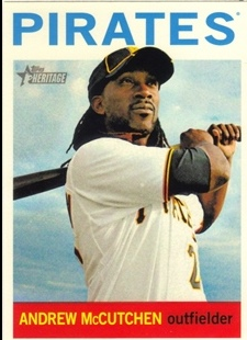 2013 Topps Heritage #438A Andrew McCutchen SP