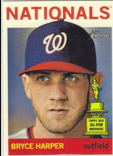 2013 Topps Heritage #440A Bryce Harper SP