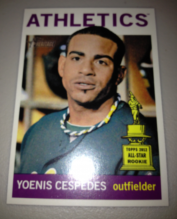 2013 Topps Heritage #459A Yoenis Cespedes SP