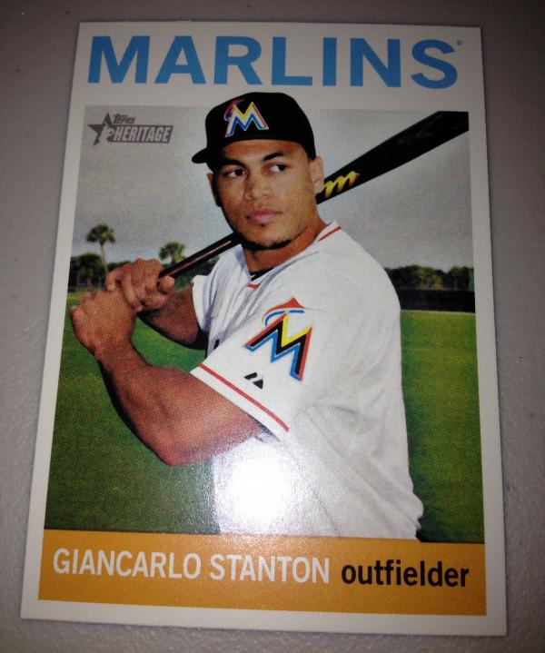 2013 Topps Heritage #463A Giancarlo Stanton SP
