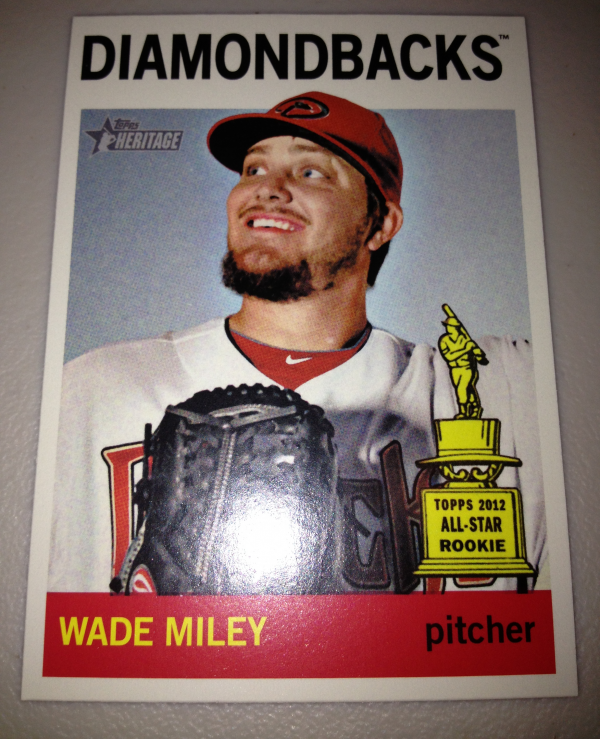 2013 Topps Heritage #474A Wade Miley SP
