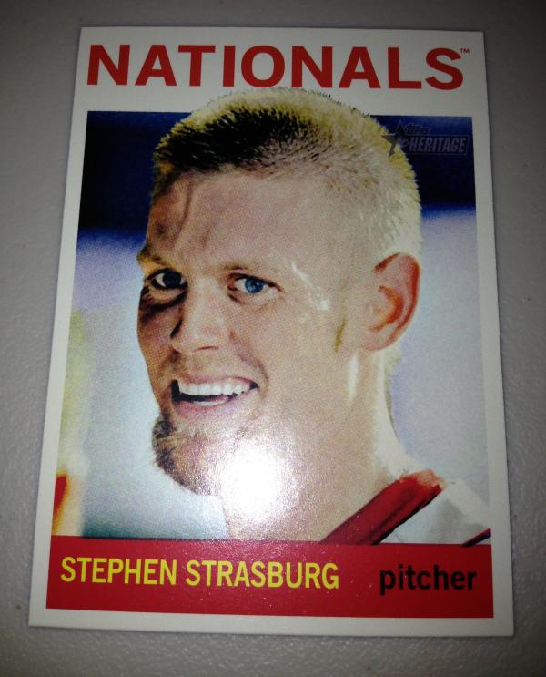 2013 Topps Heritage #480A Stephen Strasburg SP