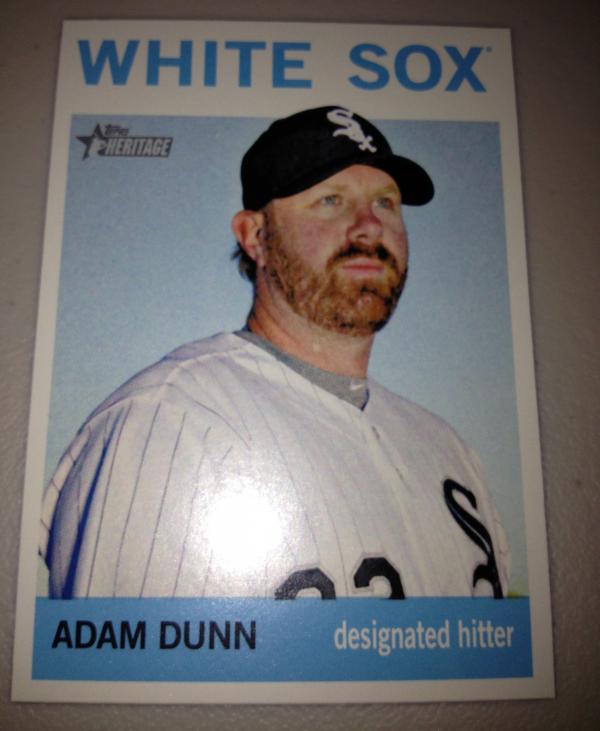 2013 Topps Heritage #484A Adam Dunn SP