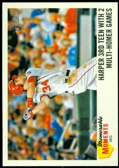 2013 Topps Heritage Memorable Moments #BH Bryce Harper
