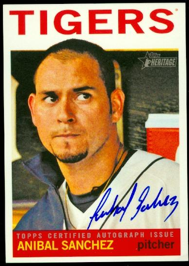 2013 Topps Heritage Real One Autographs #AS Anibal Sanchez