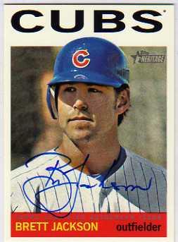 2013 Topps Heritage Real One Autographs #BJ Brett Jackson