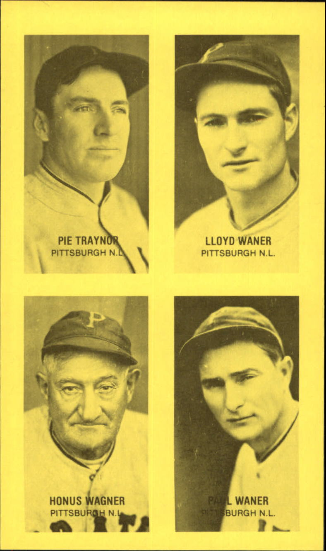 1977 Jim Rowe 4-in-1 Exhibits #15 Pie Traynor/Lloyd Waner/Honus Wagner/Paul Waner