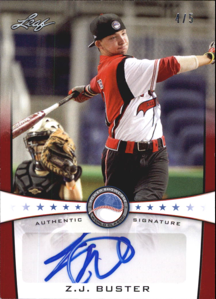 2013 Leaf Power Showcase Autographs Red #ZJB Z.J. Buster