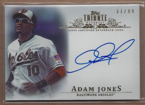 2013 Topps Tribute Autographs #AJ Adam Jones