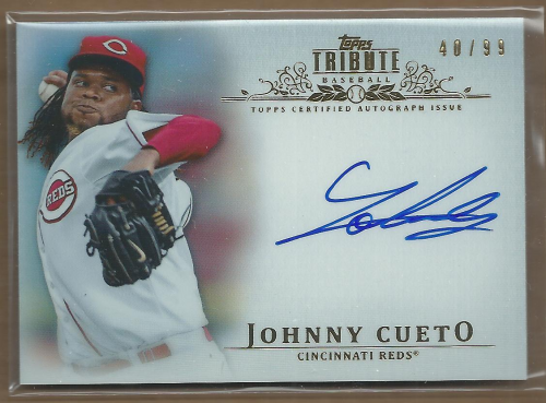 2013 Topps Tribute Autographs #JC Johnny Cueto