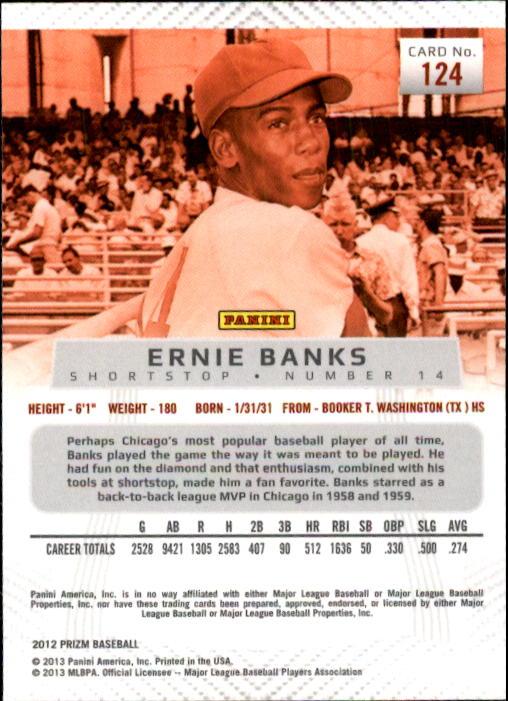 2012 Panini Prizm #124 Ernie Banks back image