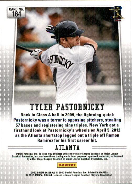 2012 Panini Prizm #164 Tyler Pastornicky RC back image