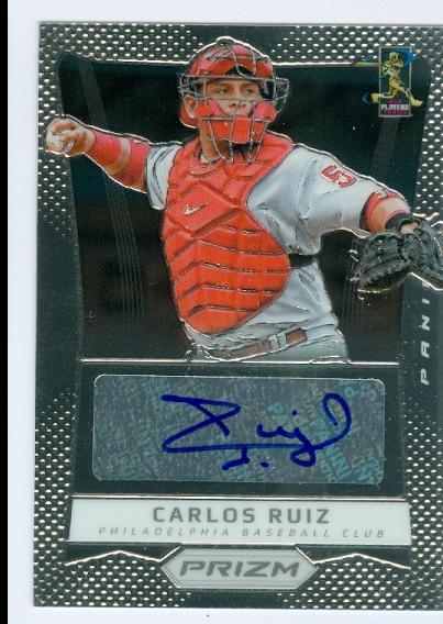 2012 Panini Prizm Autographs #CR Carlos Ruiz