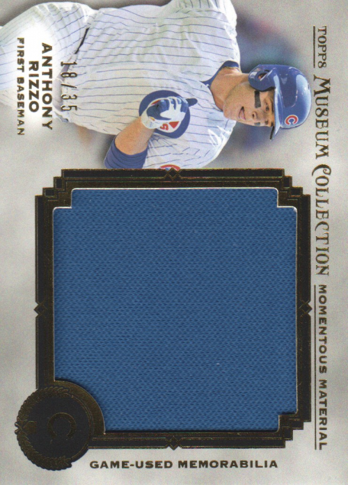 2013 Topps Museum Collection Momentous Material Jumbo Relics Gold #AR Anthony Rizzo