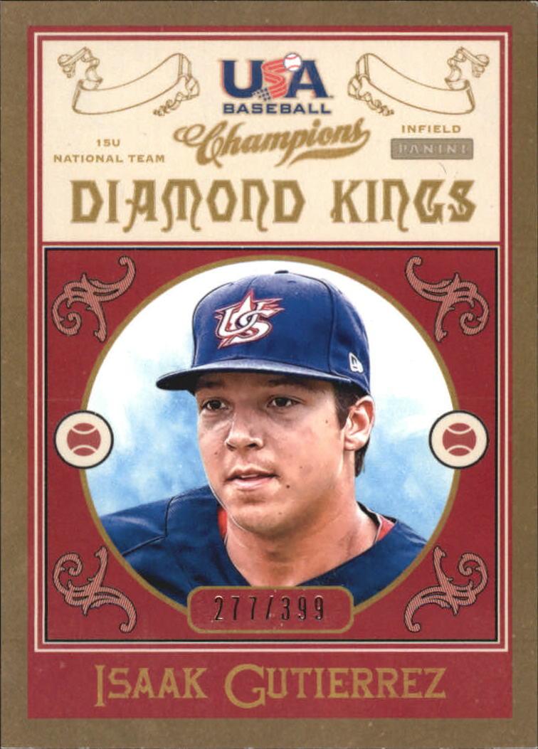2013 USA Baseball Champions Diamond Kings #10 Isaak Gutierrez