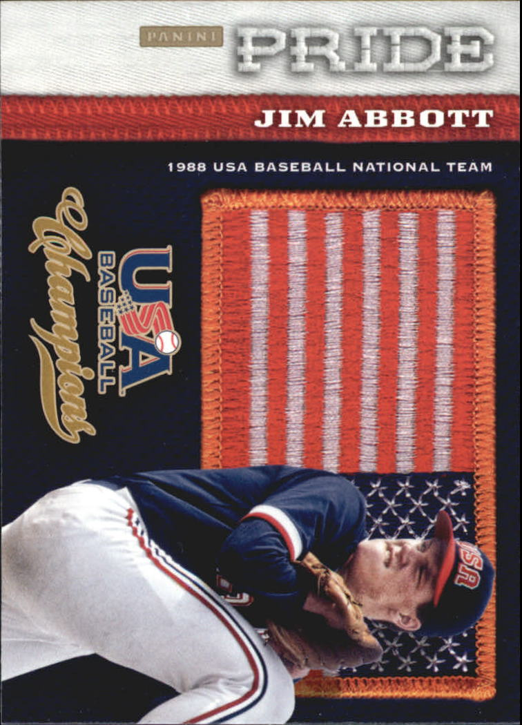 2013 USA Baseball Champions Pride #10 Jim Abbott