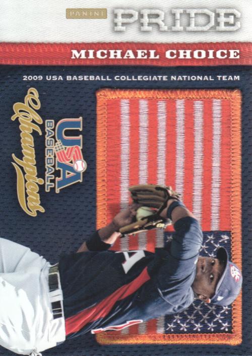 2013 USA Baseball Champions Pride #14 Michael Choice