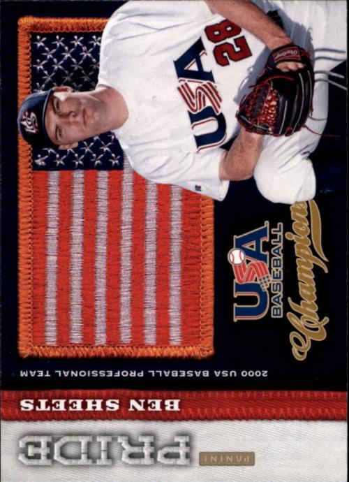 2013 USA Baseball Champions Pride #16 Ben Sheets