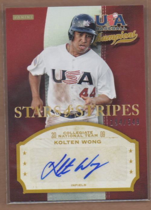 2013 USA Baseball Champions Stars and Stripes Signatures #71 Kolten Wong/549