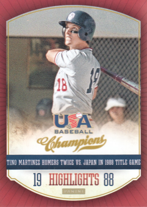 2013 USA Baseball Champions Highlights #2 Tino Martinez
