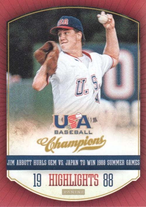 2013 USA Baseball Champions Highlights #3 Jim Abbott