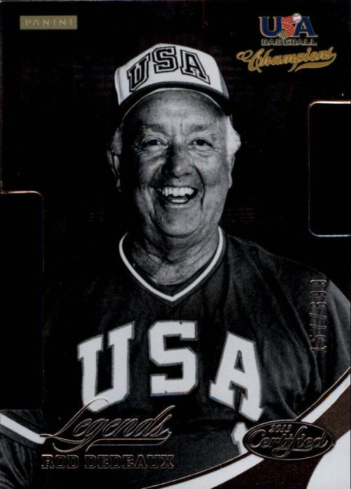 2013 USA Baseball Champions Legends Certified Die-Cuts #15 Rod Dedeaux