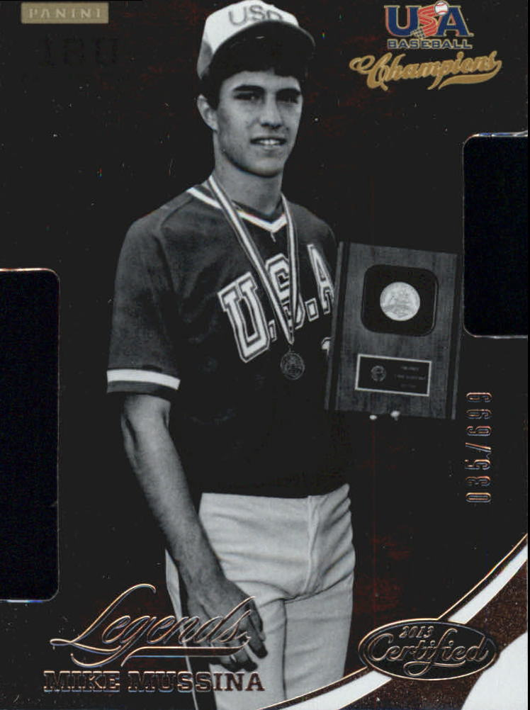2013 USA Baseball Champions Legends Certified Die-Cuts #25 Mike Mussina