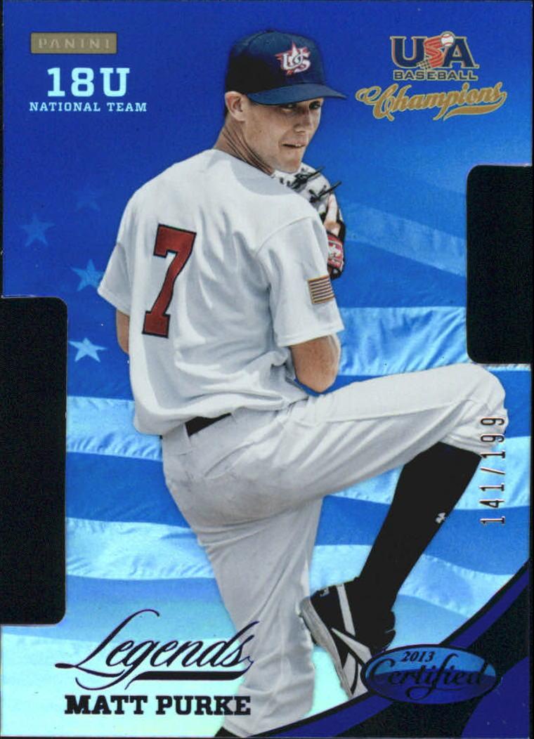 2013 USA Baseball Champions Legends Certified Die-Cuts Mirror Blue #2 Matt Purke