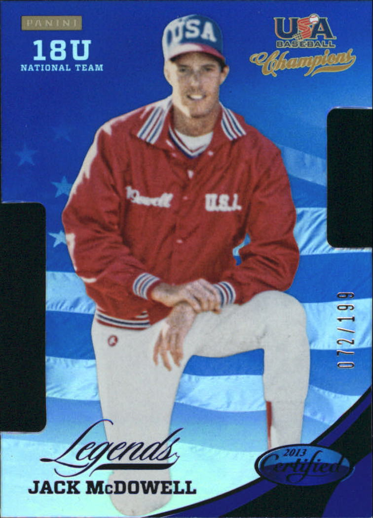 2013 USA Baseball Champions Legends Certified Die-Cuts Mirror Blue #16 Jack McDowell