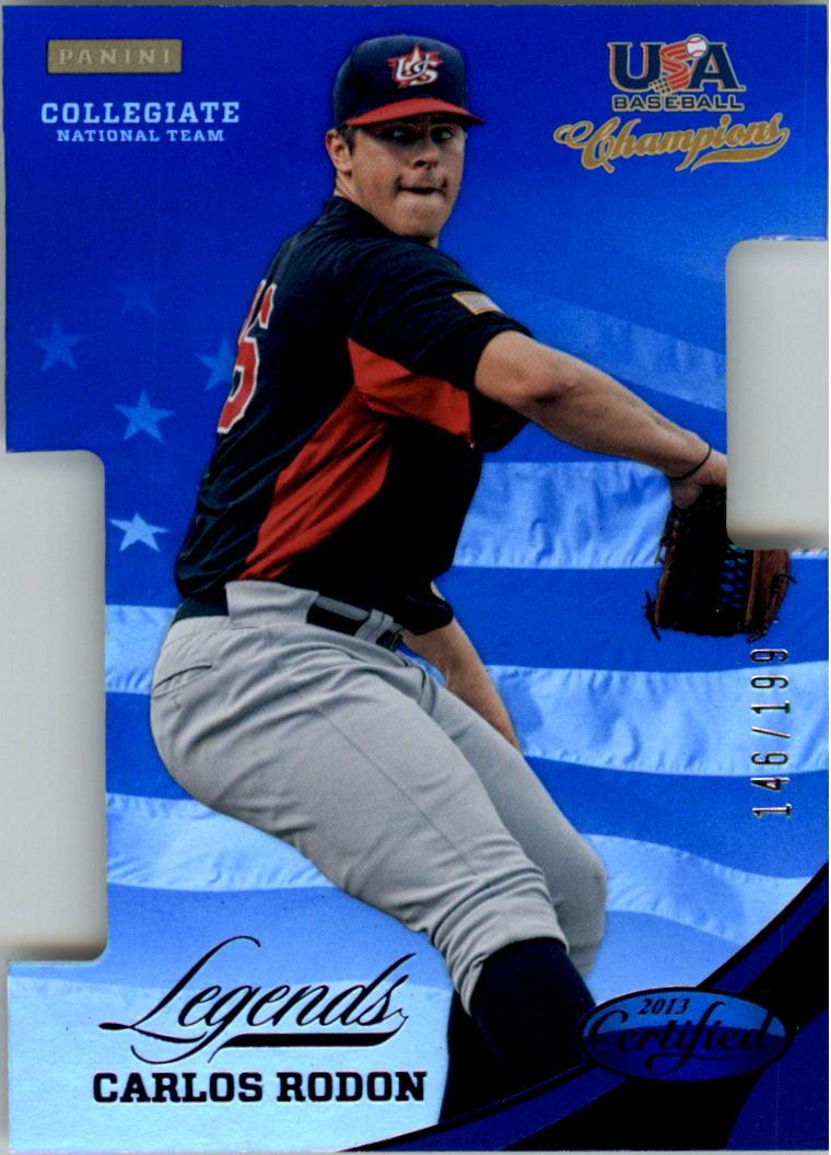 2013 USA Baseball Champions Legends Certified Die-Cuts Mirror Blue #17 Carlos Rodon