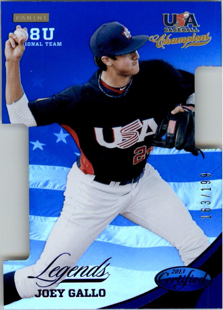 2013 USA Baseball Champions Legends Certified Die-Cuts Mirror Blue #21 Joey Gallo