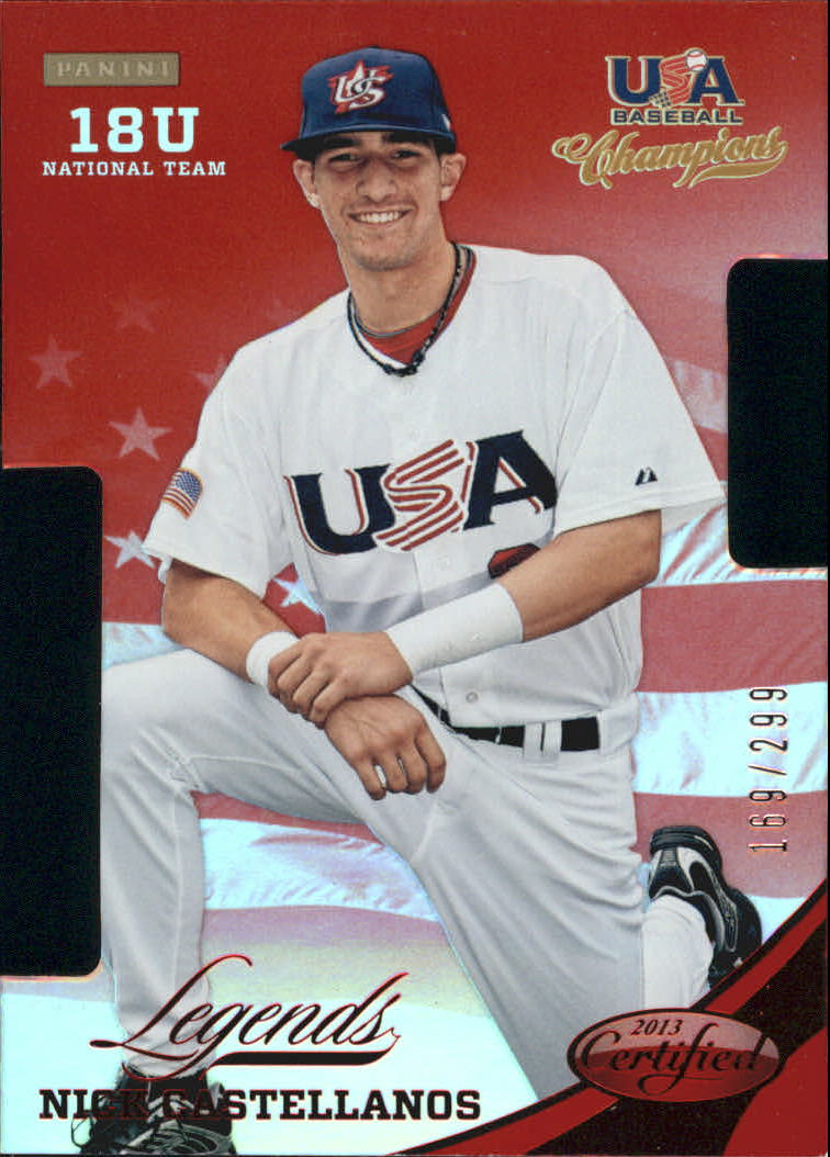 2013 USA Baseball Champions Legends Certified Die-Cuts Mirror Red #9 Nick Castellanos