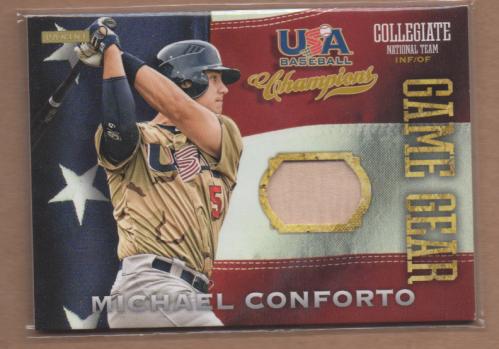 2013 USA Baseball Champions Game Gear Bats #2 Michael Conforto