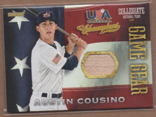 2013 USA Baseball Champions Game Gear Bats #3 Austin Cousino