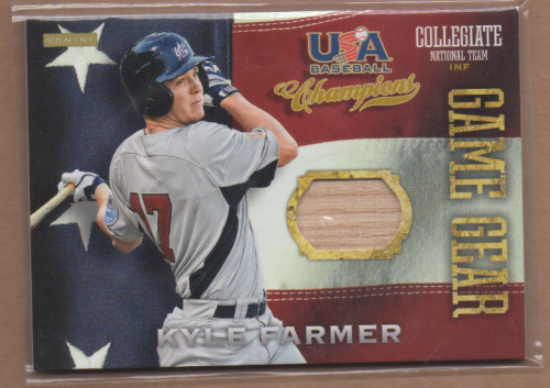 2013 USA Baseball Champions Game Gear Bats #4 Kyle Farmer