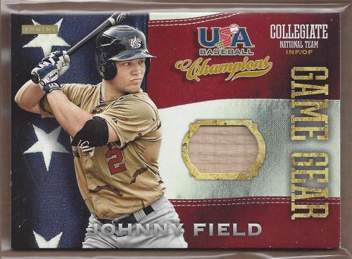 2013 USA Baseball Champions Game Gear Bats #5 Johnny Field