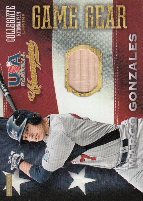 2013 USA Baseball Champions Game Gear Bats #6 Marco Gonzales